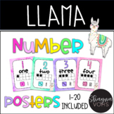 Llama Ten Frame Number Posters 1-20- Llama Number Line