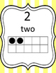 Number Posters 0-20 Numbers, Number Word, and Ten Frames