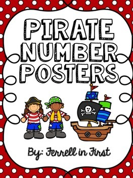 Number Posters 0-20: Pirate Theme