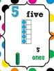 Number Posters 0-20 {Polka Dot} w/ Base Ten,Ten Frame