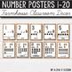 Number Posters 0-20 - Rustic Classroom Decor - Farmhouse Classroom Decor