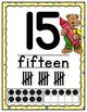 Number Posters 0-20 School Bears Theme