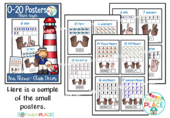 Number Posters 0 to 20 Sea Theme