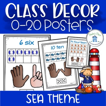 Number Posters 0-20 - Sea Theme