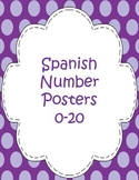 Number Posters  0-20 (Spanish)