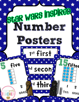 Number Posters 0-20 {Star Theme} CCSS Aligned