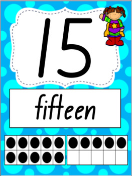 Number Posters 0-20- Super Hero Theme