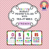 Number Posters 0-20 With Ten-Frames {IN FRENCH}