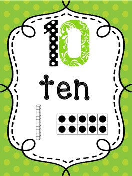 Number Posters 0-20 + all the 10's to 100