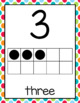 Number Posters (0-20) in Bright Polka Dots