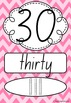 Number Posters 0-20 plus decades 30-100 NSW Font - Rainbow