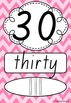 Number Posters 0-20 plus decades 30-100 QLD Font - Rainbow Chevron