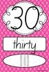 Number Posters 0-20 plus decades 30-100 SA Beginners - Rai