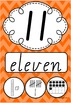 Number Posters 0-20 plus decades 30-100 VIC Modern Cursive - Rainbow Chevron