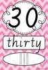 Number Posters 0-20 plus decades 30-100 VIC Modern Cursive