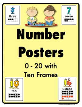 Number Posters (0-20 with Ten Frames)