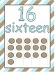 Number Posters 0-20 with Ten Frames in Stripes