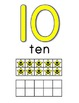Number Posters 0-20 with Tens Frame