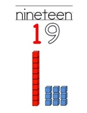 Number Posters 0-20 with # words and rods and units place value
