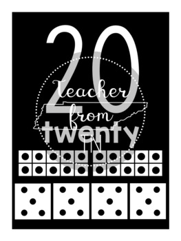 Number Posters 0 - 20 with Ten Frames and Dice