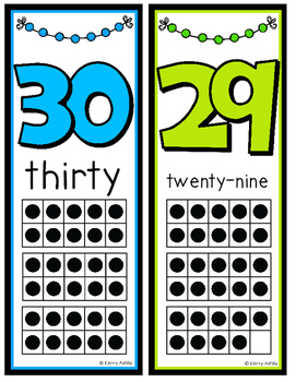 Number Posters 0-30