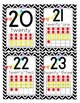 Black & White Chevron Number Posters 0-30 with ten frames (CCSS)