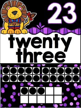 Number Posters (0-30) Circus Theme