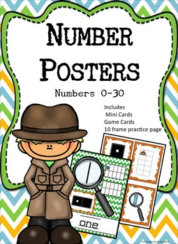 Number Posters #0-30 and Matching Game