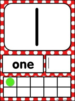 Number Posters 0-20 (orange, turquoise, lime green, red polka dots)