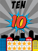 Superhero Number Posters 0 to 10 Classroom Decor Anchor Charts for Pre-K & K