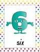 Number Posters - 0 to 10 - cute characters for numbers
