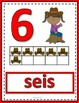 Number Anchor Charts 0 to 20 with Ten Frames - Cowboys - Spanish - Los Números