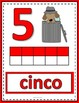 Number Anchor Charts 0 to 20 with Ten Frames - Detectives - Spanish -Los Números
