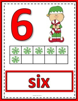 Number Posters 0 to 20 with Ten Frames - Elves