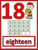 Number Anchor Charts 0 to 20 with Ten Frames - Christmas