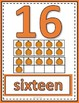 Number Posters 0 to 20 with Ten Frames - Pumpkins