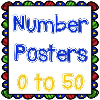 Number Posters 0 to 50