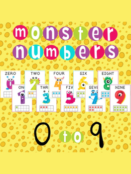 Number Posters 0 to 9 - Monster Theme - Classroom Decor for Pre-K & K