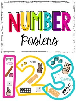 Number Posters {1-10} Black and white and colored versions