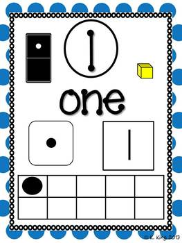 Number Posters 1-10 - Bright Polka Dots
