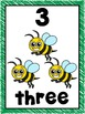 Number Posters 1-10 Bug Theme