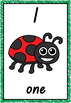 Number Posters 1-10 Bug Theme QLD Beginners Font