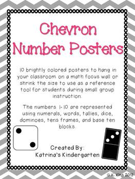 Number Posters 1-10 - Chevron Background