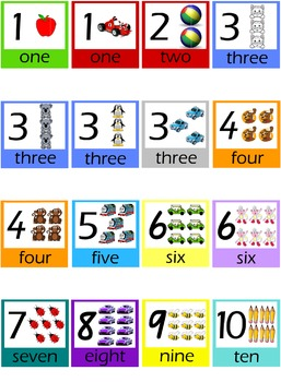 Number Posters 1 -10 - Different designs included