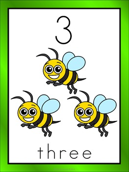 Number Posters 1-10 Insect Theme