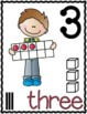 Number Posters 0-20 - Number Word, Ten Frame, Tally Marks, Base Ten Blocks