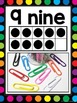 Number Posters 0-20 {White & Rainbow Dots Theme}