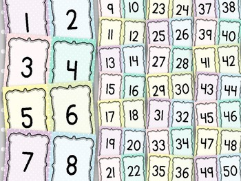 Number Posters 1-120 {Polka Dot Pastels}