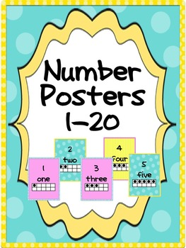 Number Posters 1 - 20