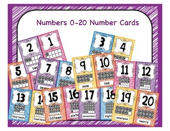 Ten Frame Number Wall Posters 1-20